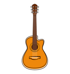 isolated guitar sketch musical instrument vector image