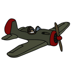 Old military airplane vector