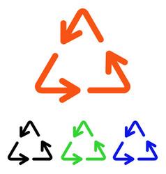 Recycle arrows flat icon vector