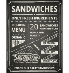 Sandwich poster vector image vector image
