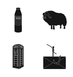 Shop travel and or web icon in black styleanimal vector