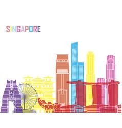 Singapore v2 skyline pop vector