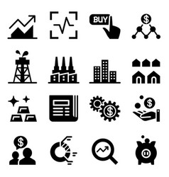 stock market stock exchange icons vector image vector image