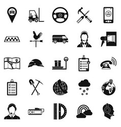 Supervisor icons set simple style vector