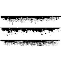 Three background design with black ink vector
