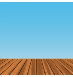 Wood floor with blue back vector