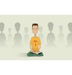 Yoga pose skill vector