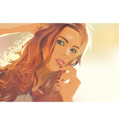 Young woman outdoors portrait vector image vector image