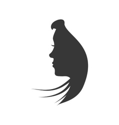 Female head icon woman head design vector