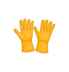 Rubber gloves icon cartoon style vector