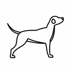 Hunting dog icon outline style vector