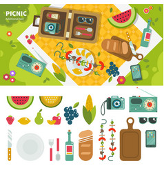 Picnic in the park vector