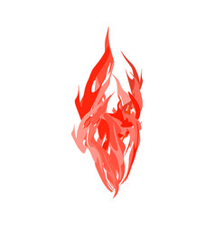 fire isolated red flames on white background vector image