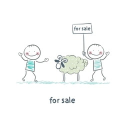 Selling sheep vector