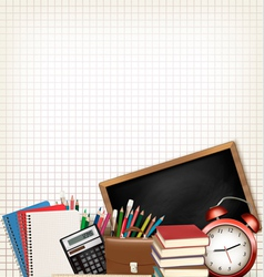 Back to school education background with school vector