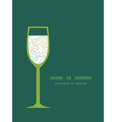 Curly doodle shapes wine glass silhouette vector