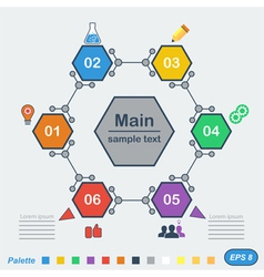 Infographics in chemical style vector