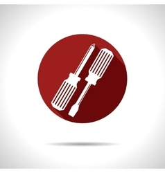 Two screwdrivers icon eps10 vector