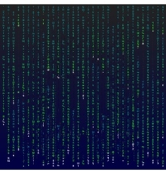 Matrix background with symbols vector