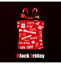 Gift box on black friday vector
