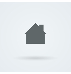 Mono icon with the image of the house the cottage vector