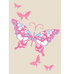 Butterfly scribble and brush stroke vector