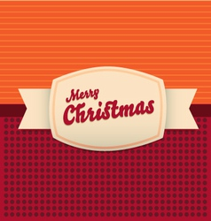 Vintage merry christmas card vector