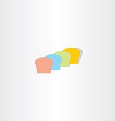 Abstract colorful bread logo vector