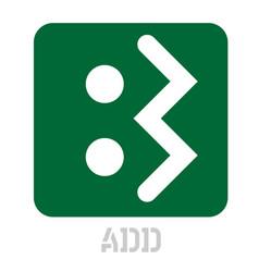 Add conceptual graphic icon vector