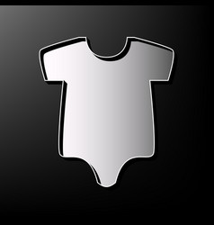 baby cloth gray 3d printed vector image vector image