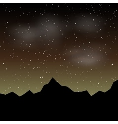 Beautiful night landscape with stars and vector image