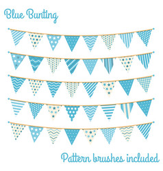 blue bunting vector image vector image