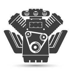 car powerful engine black symbol vector image