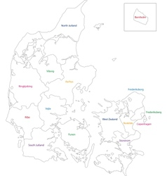 Contour denmark map vector