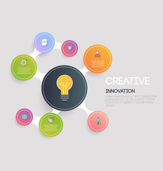 creative and marketing concept flat design modern vector image vector image