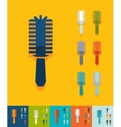 Flat design hair brush vector