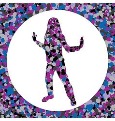 Girl silhouette made of bubbles vector image vector image