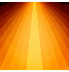 Golden light beams with grunge elements vector image