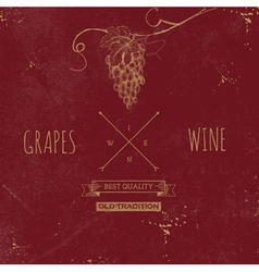 Hand drawn grunge wine background vector image vector image