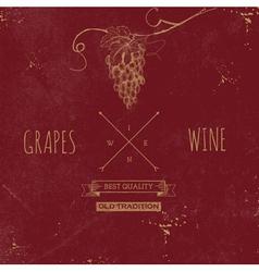 Hand drawn grunge wine background vector