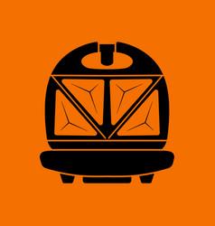 Kitchen sandwich maker icon vector