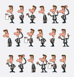 male office worker character with 18 variations vector image vector image