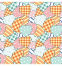 patchwork seamless pattern vector image vector image