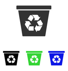 Recycle bin flat icon vector