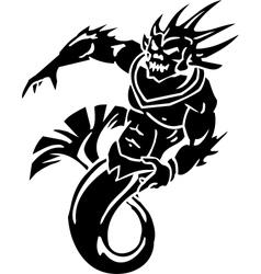 Sea monster - vinyl-ready vector