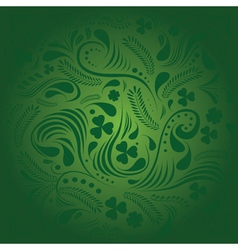St Patricks day background with floral ornament vector image