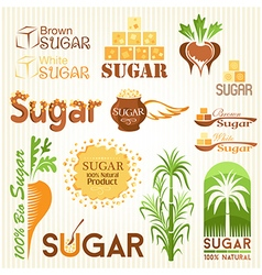 Sugar icons vector image