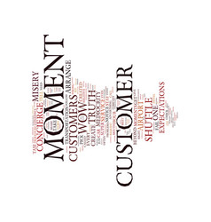 The moment of truth text background word cloud vector