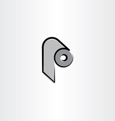Toilet paper roll icon clipart vector