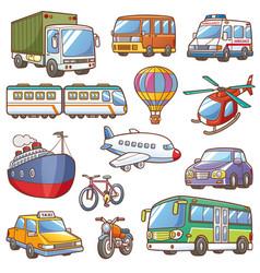 transportation vector image vector image